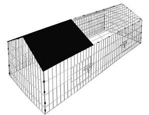 Metal Outdoor Chicken Rabbit Pet Small Animal Cage Crate Run Playpen Enclosure