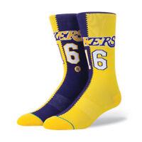 STANCE NEW Mens Lakers Split Jersey Socks Yellow BNWT