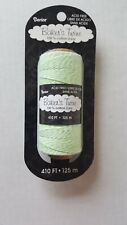 Darice Bt101 2-Ply Bakers Cotton Twine, 410-Feet, Lime Green/White