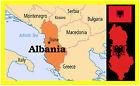Albanie Carte & DRAPEAU - Souvenir Nouveauté Aimant de réfrigérateur -