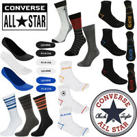 Mens Converse 3 Pack Socks All Star Trainer Ankle Boot Socks Pairs