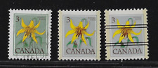 """Canada Stamps — 1977, Floral Canada Lily #708&708xx """"Variety / Color"""" — See Scan"""