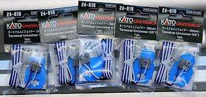 "Lot of 5 - HO or N Scale - KATO UNITRACK 24-818 Terminal UniJoiner 35"" - 1 Piece"