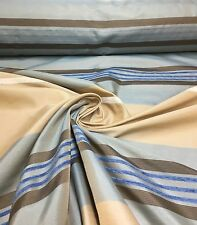 LUXURIOUS BLUE STRIPE CURTAIN FABRIC 12 METRES.