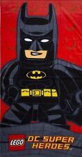 Lego Batman DC Superheroes Kapow Boys Beach Bath Towel Holiday Swimming 70x140cm