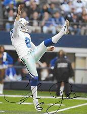 Dallas Cowboys #6 CHRIS JONES Signed Autographed Football 8x10 Photo COA!