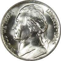 1945 P Jefferson Wartime Nickel BU Uncirculated Mint State 35% Silver 5c US Coin