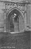 uk22355 south door melrose abbey scotland  real photo uk