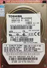 Toshiba 40 GB 40GB 5400 RPM,6,35 cm 2,5 Zoll IDE PATA HDD For Laptop Festplatte