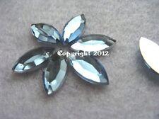 20 pedrería semipreciosas spitz oval bebé azul 7 x 15mm no HotFix baseln