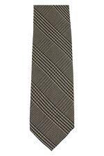 Tom Ford Wool & Silk Neck-Tie Green - Brown Glen Plaid