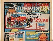 """1990 Vintage Sales Sheet: """"FREEDOM FIREWORKS"""""""
