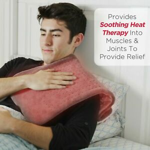 """XL Electric Heating Pads for Back, Neck Heating Pad Fast Pain Relief 12""""x24"""""""