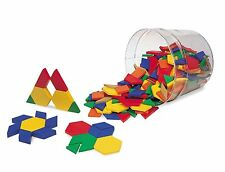 Recursos de aprendizaje bloques de patrón de plástico 0.5cm (juego de 250)