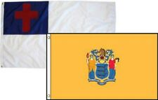 3x5 Christian Christ & State New Jersey 2 Pack Flag Wholesale Combo 3'x5'