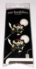 Monkey Pirate Earphone Charm - Earbud Cord Charm - Ear Buddies New in package