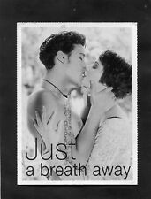 Posted 1994 Art Card: Couple Kissing: Just a Breath Away