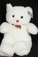 "Gund 18"" White DUFFY Teddy Bear Plush Toy Doll (plaid neck ribbon) NWT NEW"