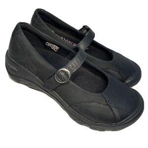 KEEN Presidio Mary Jane 1011432 Black Leather Shoes Women's Size 8 M $125