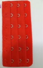 Bra Extender  Ladies Bra Extension Strap 6 HOOKS- 3 Positions - RED - 2 PIECES