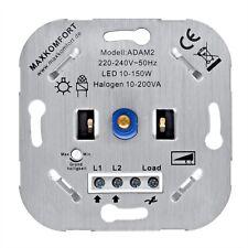 LED Dimmer Drehdimmer Unterputz Wechselschalter Phasenabschnitt Halogen 10-200W