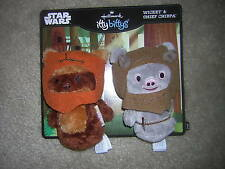 Hallmark Star Wars 2 Pack Itty Bitty Bittys Plush Ewoks: Chief Chirpa & Wicket