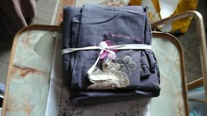 PRE OWNED/USED MAISON KING SIZED DARK PURPLE DUVET COVER AND TWO PILLOW CASES