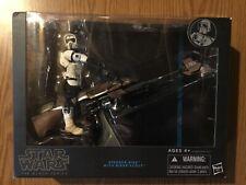 2013 Star Wars Black Series 6? Biker Scout w/ Speeder Bike Figure NIB RARE LOOK!