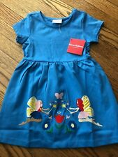 NWT's!!! Girl's HANNA ANDERSSON Blue Applique Dress - Size 100 (4)