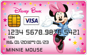Minnie Mouse Novelty Plastic Credit Card