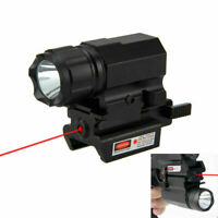 Combo Gun Flashlight Red Laser Dot Sight Strobe For 20mm Picatinny Rail
