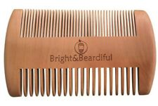UK Beard Hair Comb, Natural Wooden Double Anti Static Comb for Oil Balm Wax
