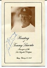 Signed Tommy Lasorda & Lou Piniella  Roasting Of Pamphlet W/ COA Auto