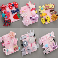6Pcs/Kit Hairpin Baby Girl Hair Clip Bow Flower Mini Barrettes Kids Infant Cute
