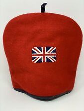 Expressions by Diana Union Jack British Flag Red Wool Teapot Cozy Cover