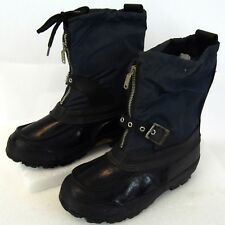 Vintage Mens Steel Shank Snowmobile Quad Water Proof Cold Weather Boots Size 5