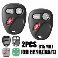 2 For Cadillac Chevrolet S10 GMC Keyless Car Remote Key Fob KOBLEAR1XT 15042968