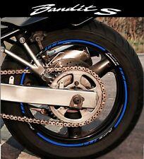 LISERETS JANTES MOTO BANDIT S STICKERS kit pour 2 jantes 40 couleurs