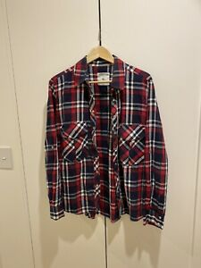 Zara Size XL Plaid Cotton Shirt