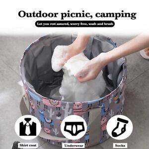 Foldable Foot Tub Portable Bath Bag Wash Basin Water Bucket Feet Massage Tra AH