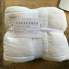 Parachute Home Pillow Sham Set, Quilted Standard Size White Linen