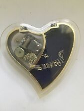 Vintage Stellar Heart Music Jewelry Box Song From Love Story