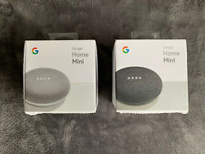 2 PACK Google Home Mini Smart Assistant Speakers White Charcoal SLIGHTLY USED