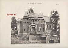 PHOTO-GRAVURE DOUAI CHATEAU DE WAGNONVILLE   1910
