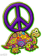 """6.5"""" PEACE SIGN TURTLE FLOWERS WALL SAFE STICKER CHARACTER BORDER CUT OUT"""
