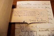 1897 - 1889 Yvanhoé Rambosson La Plume Lettre autographe et poème Littérature