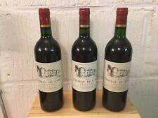 3 bouteilles Chateau de Carles Fronsac  millésime 1995