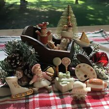 Lenox Christmas Sleigh 13 Piece Figurine Set NIB NEW