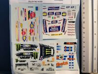 LOT 4 DECALS 1/43  FORD / TOYOTA WRC - VALENTINO ROSSI - JFD008