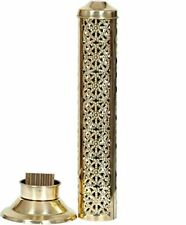 Stick Holder Stainless Steel Incense Burner Aroma Diffuser Hand Carved Holder